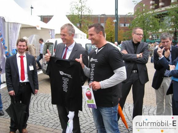 Auch NRWs Umweltminister Johannes Remmel zeigte sich von der Tour begeistert. Bild @ TTF Forum.