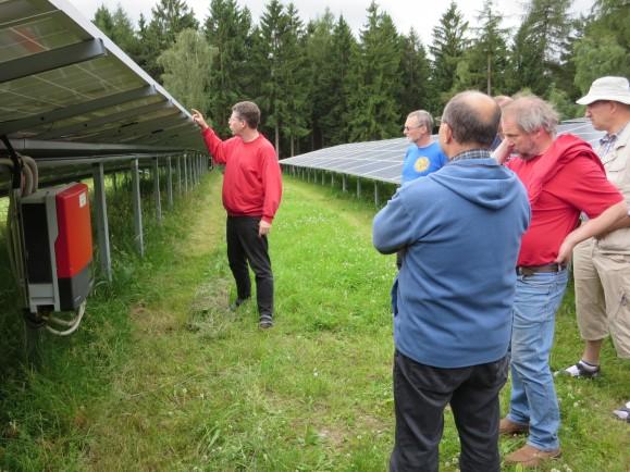 Die Freiflächensolaranlage auf dem Spulberg produziert 3,4 MW Peak regenerative Energie.