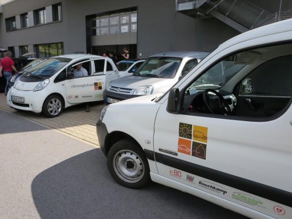 Die elektrische Fahrschule fuhr auf dem letzten Streckenabschnitt mit.