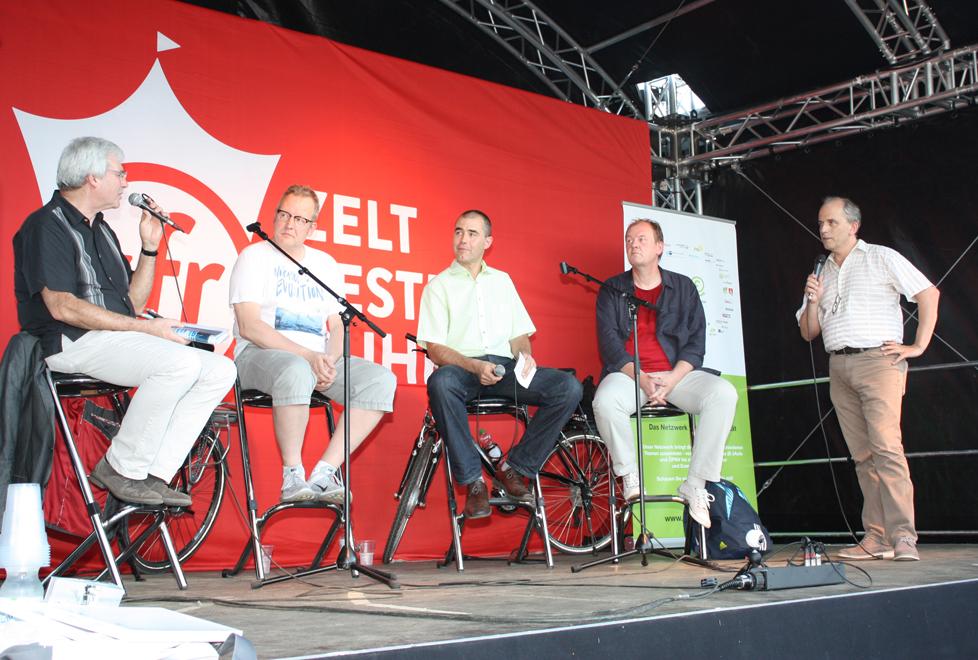 Podiumsdiskussion E-Bike-Garage, Foto © Katja Nikolic
