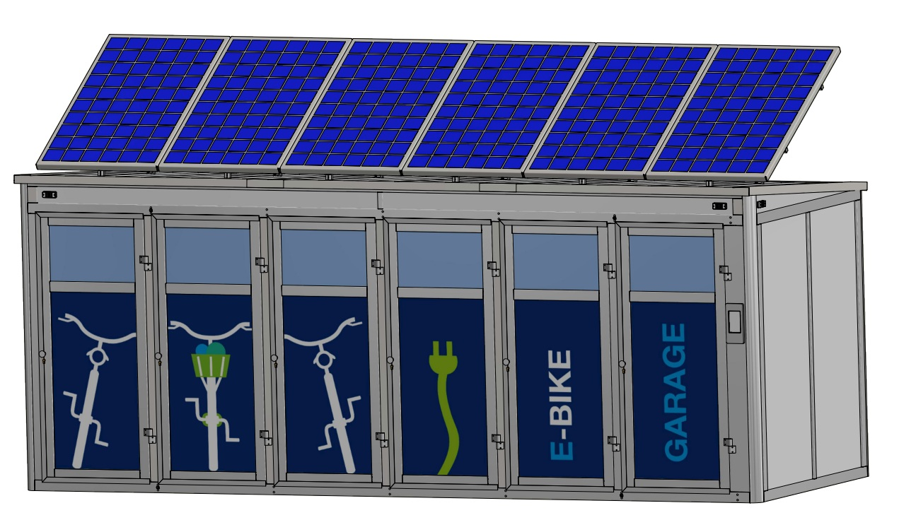 Zeichnung: So wird die e-Bike Garage aussehen