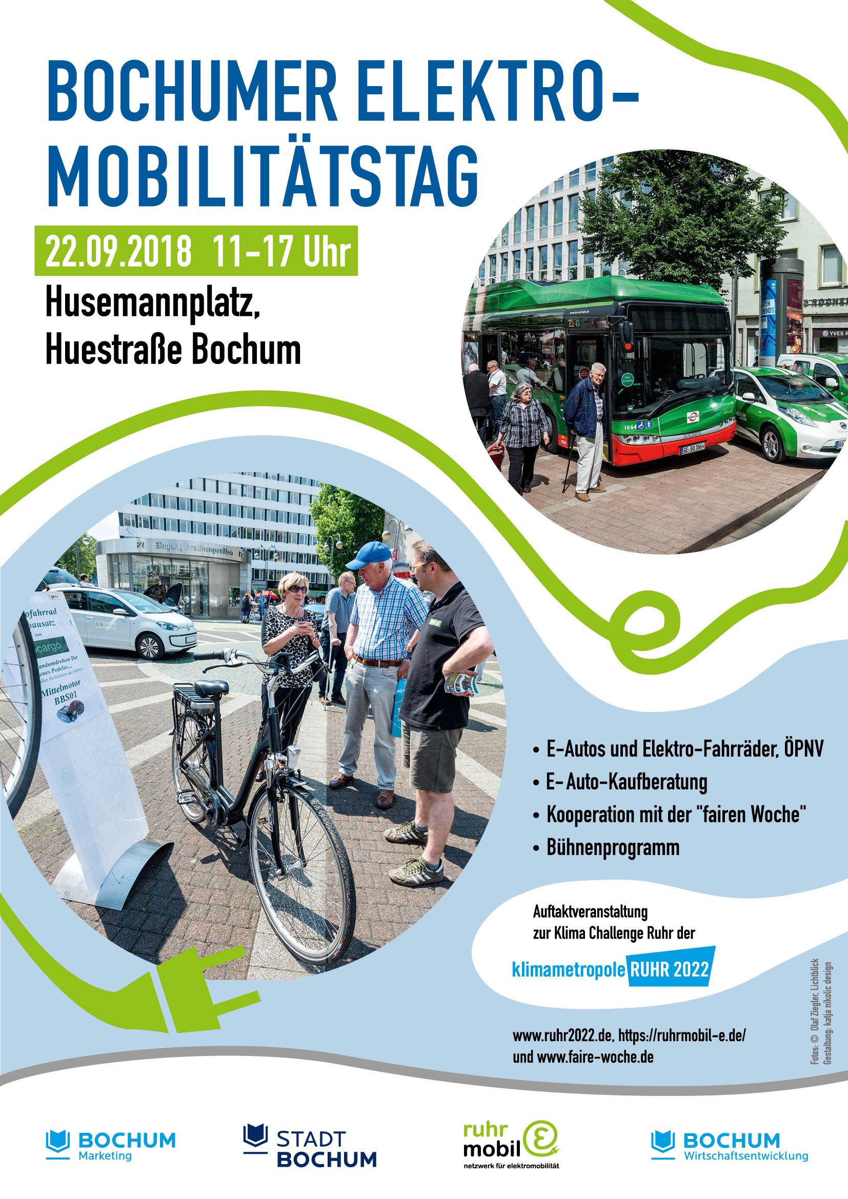 Plakat zum Elektromobilitätstag Fotos: Olaf Ziegler, Lichtblick  Gestaltung: katja nikolic design