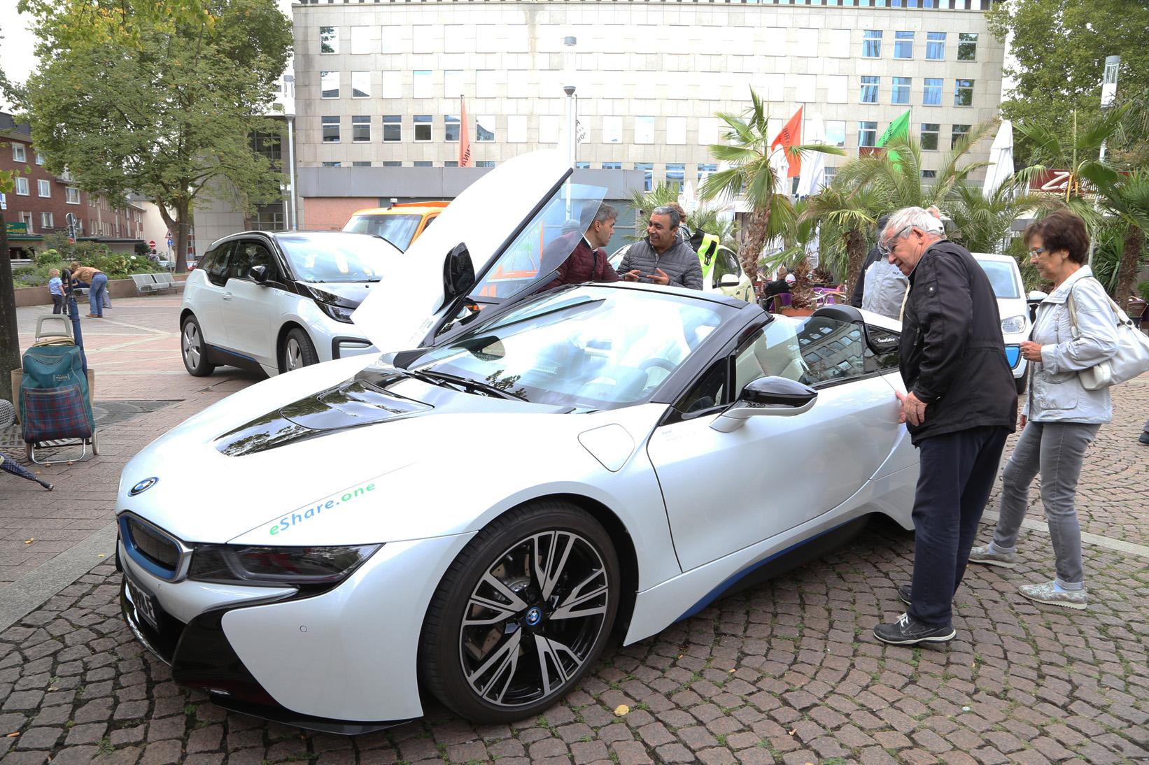 Der BMW i8 auf dem Elektromobilitätstag 2018 Foto: Wicho Herrmann-Kümper