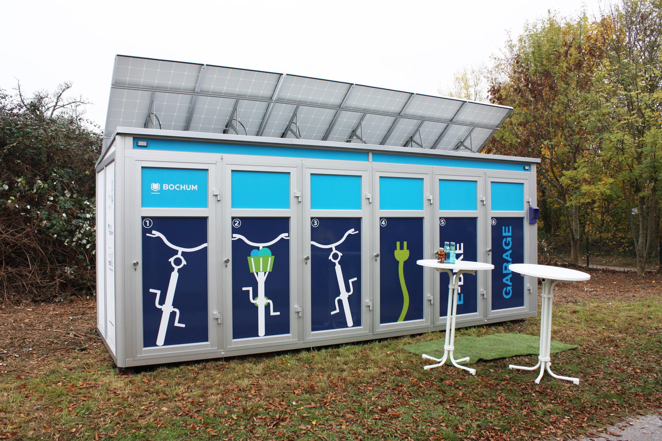 Die neue E-Bike Garage Foto: Katja Stutzer