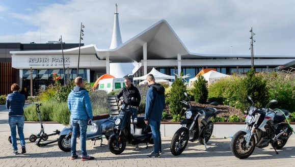 e-motorstore Essen auf dem Elektromobilitätstag 2019 Foto: Olaf Ziegler