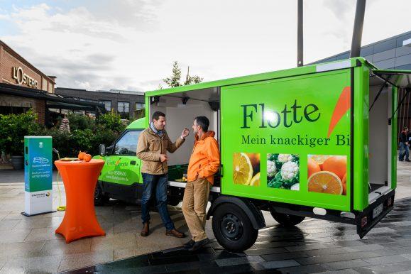Flotte Karotte auf dem Elektromobilitätstag 2019 Foto: Olaf Ziegler