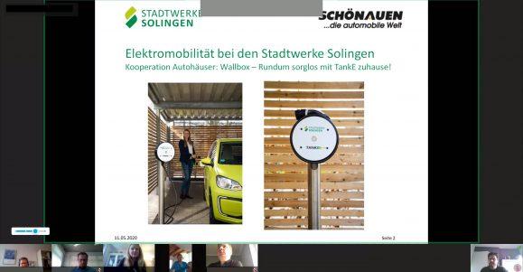 Vortrag Kooperation Stadtwerke Solingen und Autohaus Schönauen Bild: Oliver Sagner