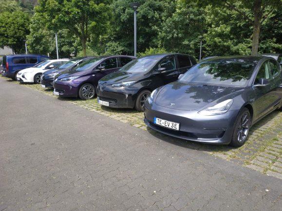 E-Autos auf der Tour de Ruhr 2020  Foto: Bernd Hoose