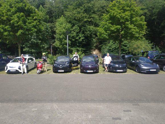 E-Fahrzeuge auf der Tour de Ruhr 2020  Foto: Bernd Hoose